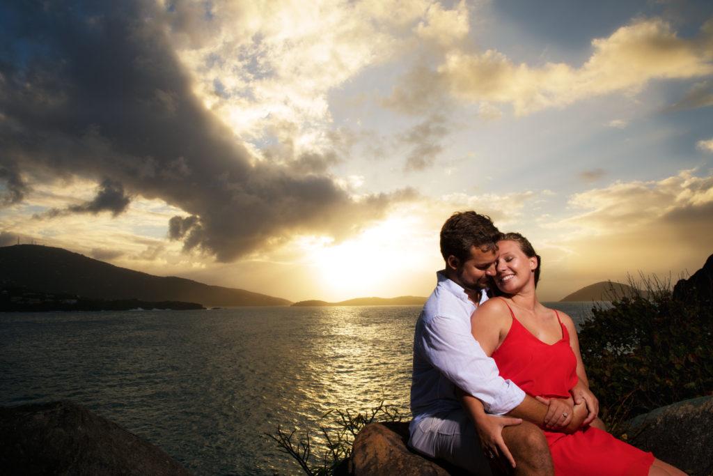 Brooklyn Wedding Photographer | Rob Allen Photography | Destination Wedding Photographer St. Thomas Picaras Point head on shoulders
