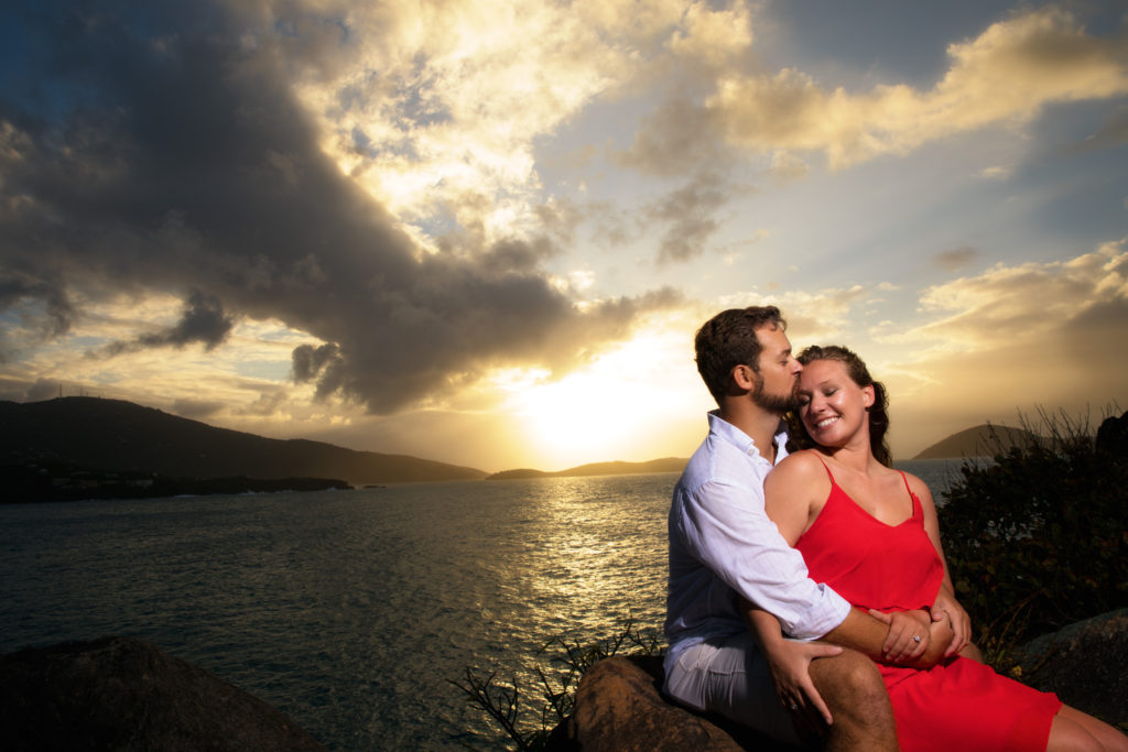 Brooklyn Wedding Photographer | Rob Allen Photography | Destination Wedding Photographer St. Thomas Picaras Point kissing on forehead