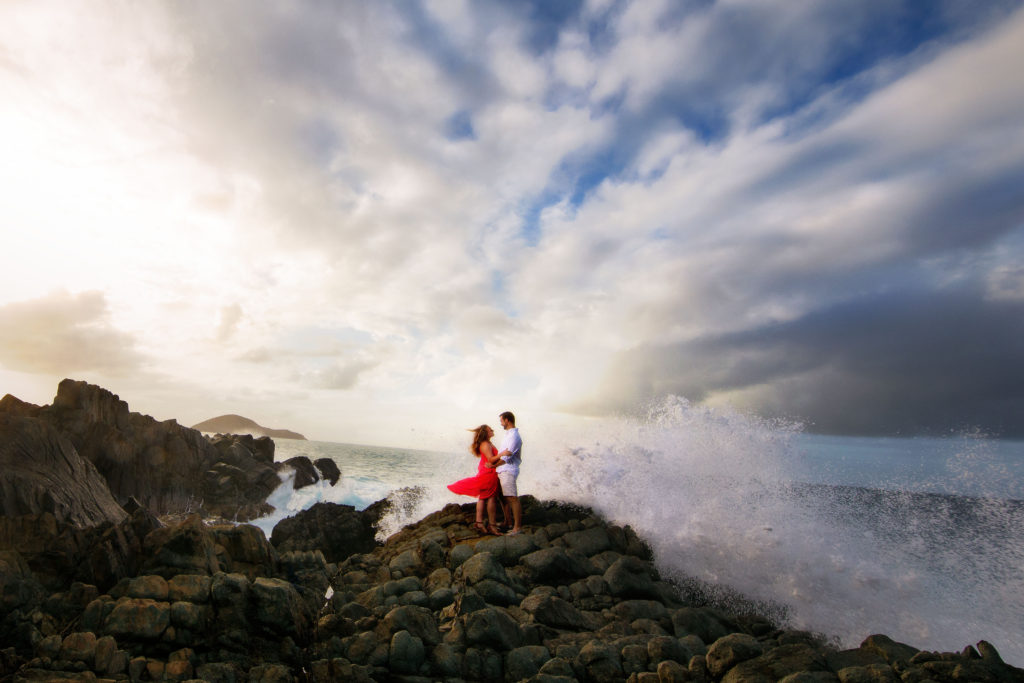 Brooklyn Wedding Photographer | Rob Allen Photography | Destination Wedding Photographer St. Thomas Picaras Point waves crashing
