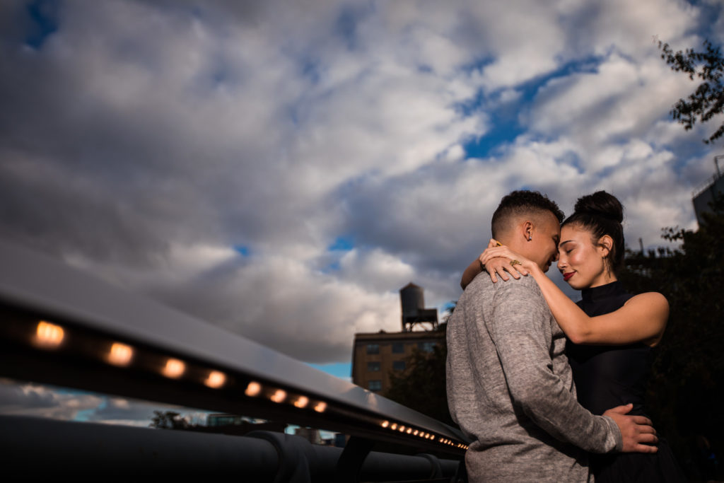 New York City HighLine engagement photo session