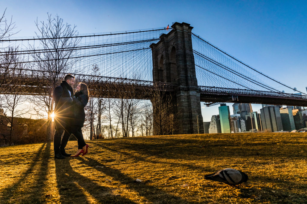 Brooklyn New York Dumbo engagement photo session